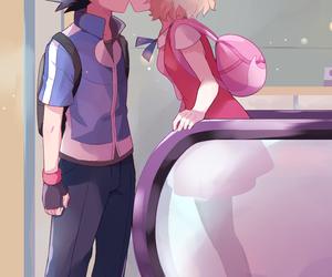 pokemon, ash, and kiss image