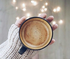 coffee, lights, and winter image