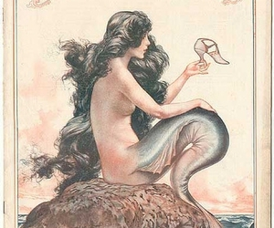fairy tale, illustration, and mermaid image