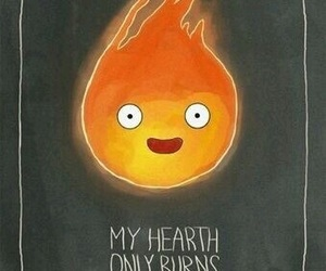 calcifer, howl's moving castle, and ghibli image