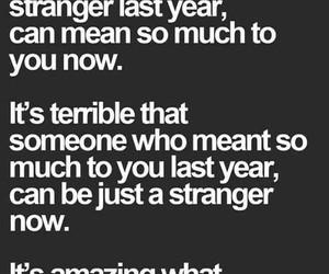 quote, strangers, and sad image
