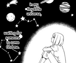 manga, planet, and quotes image