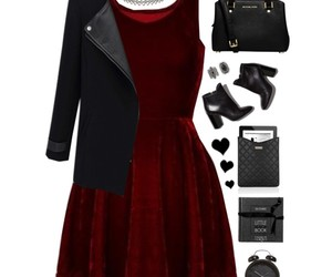 black, dress, and boots image