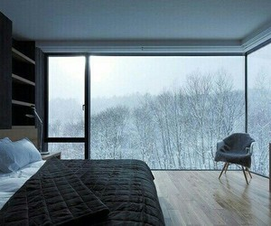 winter, bedroom, and bed image