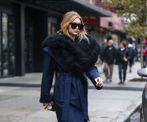 fashion, coat, and gigi hadid image