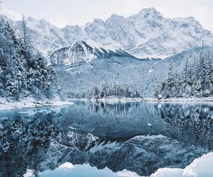 adventure, lake, and snow image