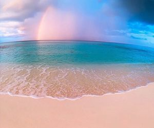 beach, elena kalis, and rainbow image