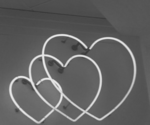 heart, neon, and hearts image