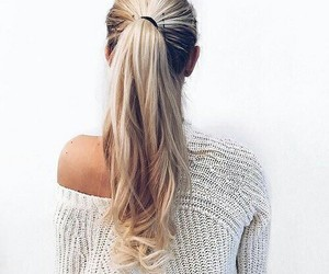 blonde, ponytail, and cute image