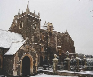 snow, architecture, and landscape image
