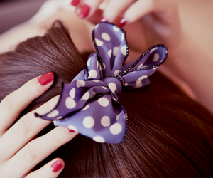 bow, hair, and nails image