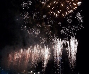 dark, fireworks, and theme image