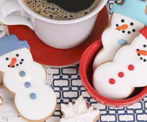 christmas, coffee, and cookie image