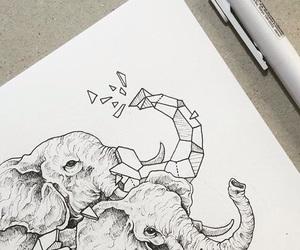 art, geometrie, and doodle image