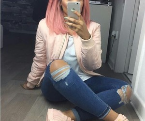 style, pink, and clothes image