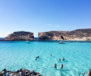 blue lagoon, blue water, and europe image