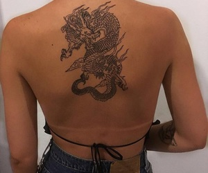 tattoo, dragon, and ink image