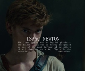 newt, the maze runner, and book image