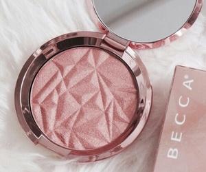 makeup, pink, and becca image
