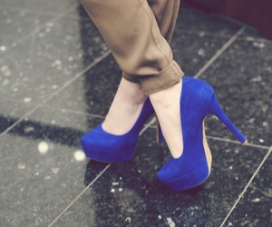 shoes, high heels, and blue image