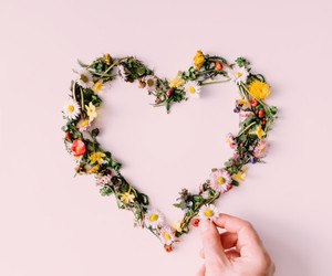 heart, flowers, and hands image
