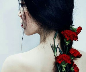 flowers, pale, and hair image