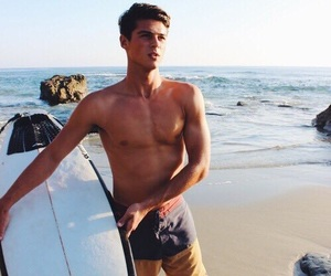boy, Hot, and surf image
