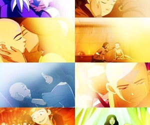 aang, avatar, and katara image