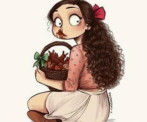 chocolate, art, and drawing image