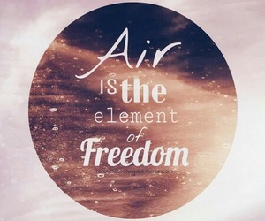 air, element, and freedom image