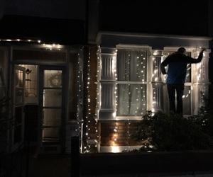 christmas, fairy lights, and xmas decor image