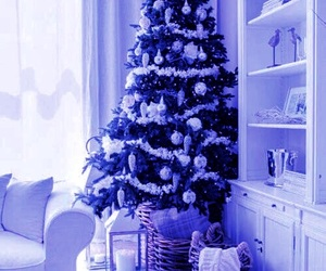 blue, purple, and winter image
