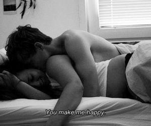 bed, couple, and happy image