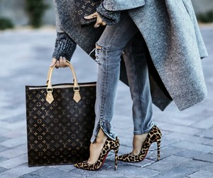bag, fashion, and heels image