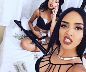 gun, prettygirls, and gangshit image