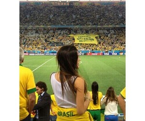 brazil, brunette, and football image