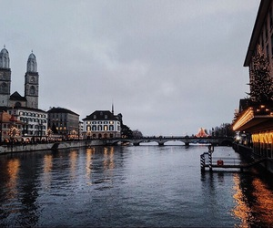 city, zurich, and love image