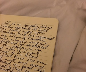 cursive, notes, and notebook image