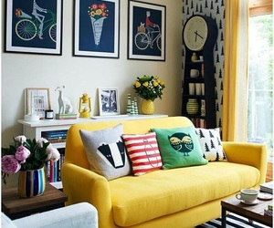 decoration, interior, and yellow image