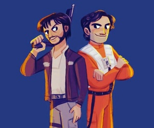 diego luna, star wars, and poe dameron image