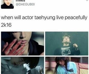 funny, kpop, and v image