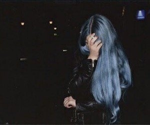 blue, grunge, and haircolor image