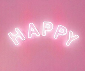 pink, happy, and neon image