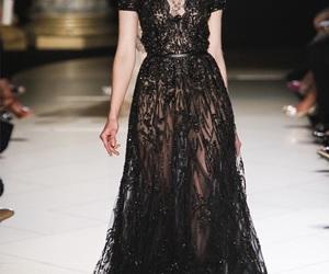 elie saab, dress, and black image