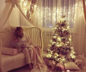 christmas, new year, and christmas tree image