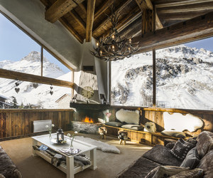 Alps, candles, and chalet image