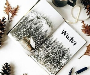 book, mountain, and snow image