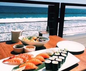 sushi, summer, and food image