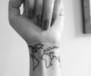tattoo, world, and nails image