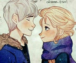 jack frost, jelsa, and disney image
